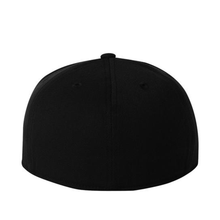 Load image into Gallery viewer, Chicano Style Embroidered Flat Bill Flexfit Cap - Black Back