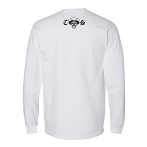 Chicano Style Classic White Long Sleeve T-Shirt Back