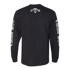 Chicano Style Skull Cap Long Sleeve Tee Back