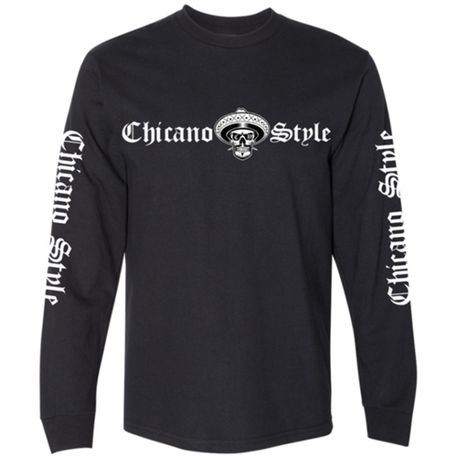 Chicano Style Classic Black Long Sleeve T-Shirt