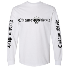 Load image into Gallery viewer, Chicano Style Classic White Long Sleeve T-Shirt