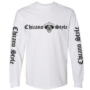Chicano Style Classic White Long Sleeve T-Shirt