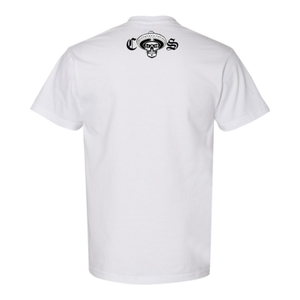 Chicano Style Classic White T-Shirt Back