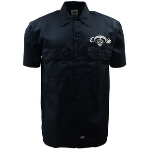 New Dickies Chicano Style Motorcycles Work Shirt Front