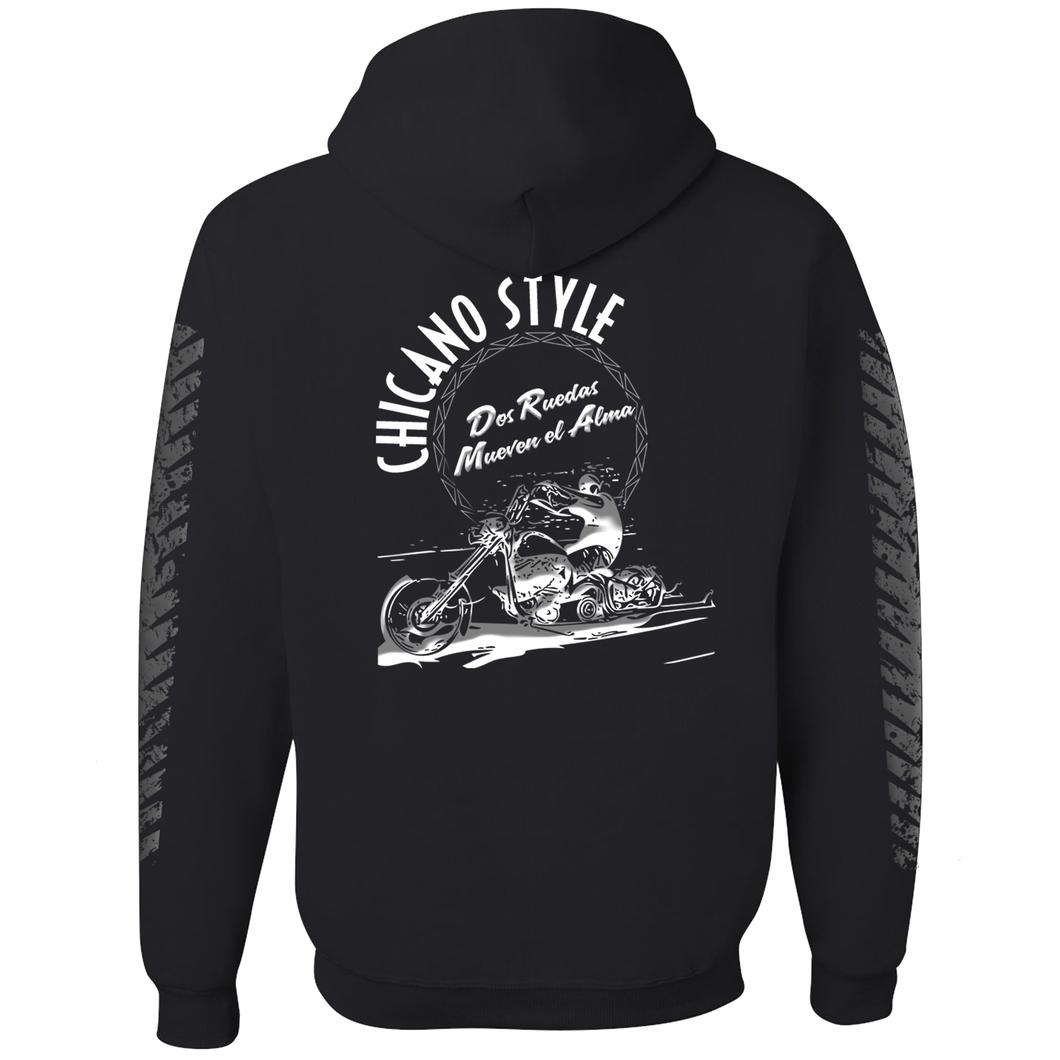 Chicano Style Dos Ruedas Limited Edition Black Pullover Hoodie Sweatshirt