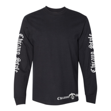Load image into Gallery viewer, Chicano Style Motorcycles Black Long Sleeve T-Shirt Front