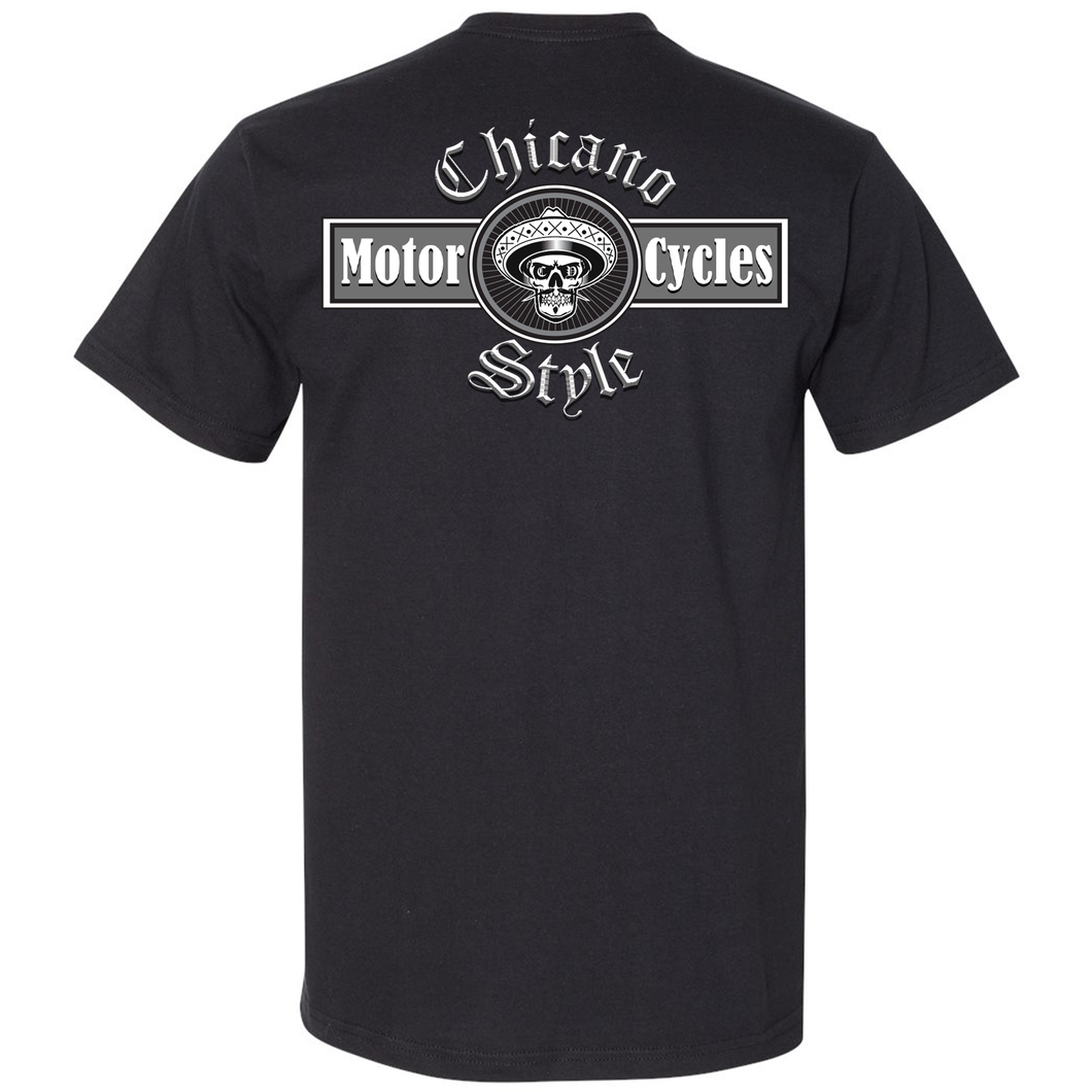 Chicano Style Motorcycles Black T-Shirt