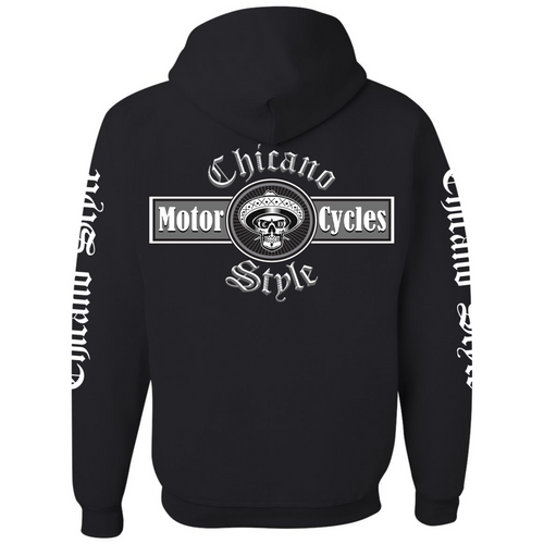 Chicano Style Motorcycles Full-Zip Hoodie Sweatshirt