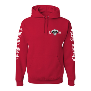 Chicano Style Motorcycles Red Hoodie Sweatshirt Front
