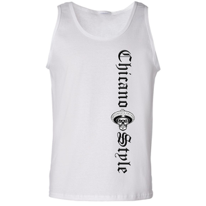 Chicano Style Motorcycles Men's White Tank Top Front