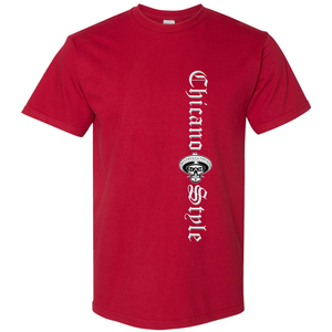 Chicano Style Motorcycles Red T-Shirt