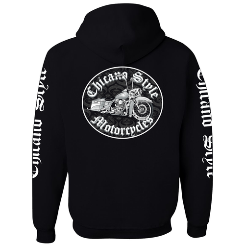 Chicano Style Motorcycles Throwback Hoodie Sweatshirt
