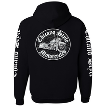 Load image into Gallery viewer, Chicano Style Motorcycles Throwback Hoodie Sweatshirt