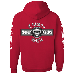 Chicano Style Motorcycles Hoodie Sweatshirt - Red
