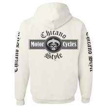 Load image into Gallery viewer, NEW Chicano Style Motorcycles White Pullover Hoodie Sweatshirt