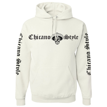 Load image into Gallery viewer, Chicano Style Motorcycles White Pullover Hoodie Sweatshirt