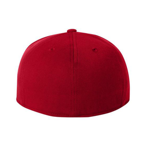 Chicano Style Embroidered Flat Bill Flexfit Cap - Red Back