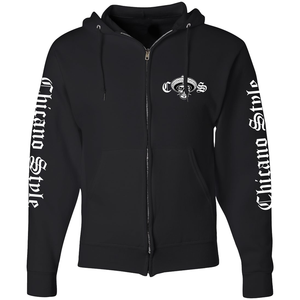 NEW! Chicano Style Motorcycles Throwback FULL-ZIP Hoodie Sweatshirt