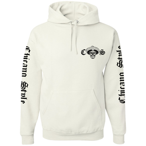 Chicano Style Viclas White Hoodie Pullover Sweatshirt Front