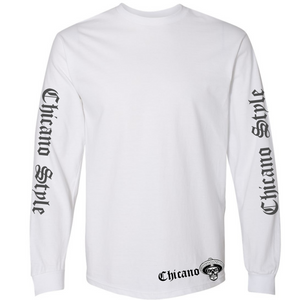 Chicano Style Viclas White Long Sleeve T-Shirt Front
