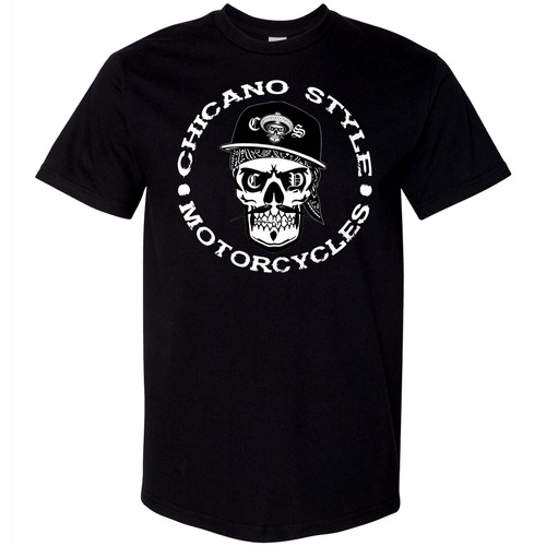Chicano Style Skull Cap T-Shirt Front