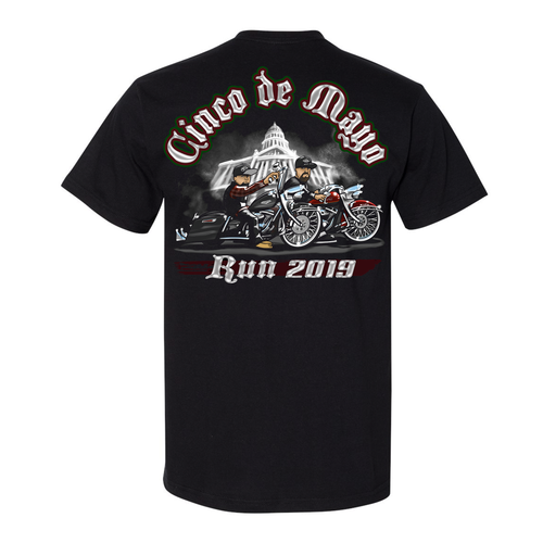 Commemorative 2019 Cinco de Mayo Run Black T-Shirt