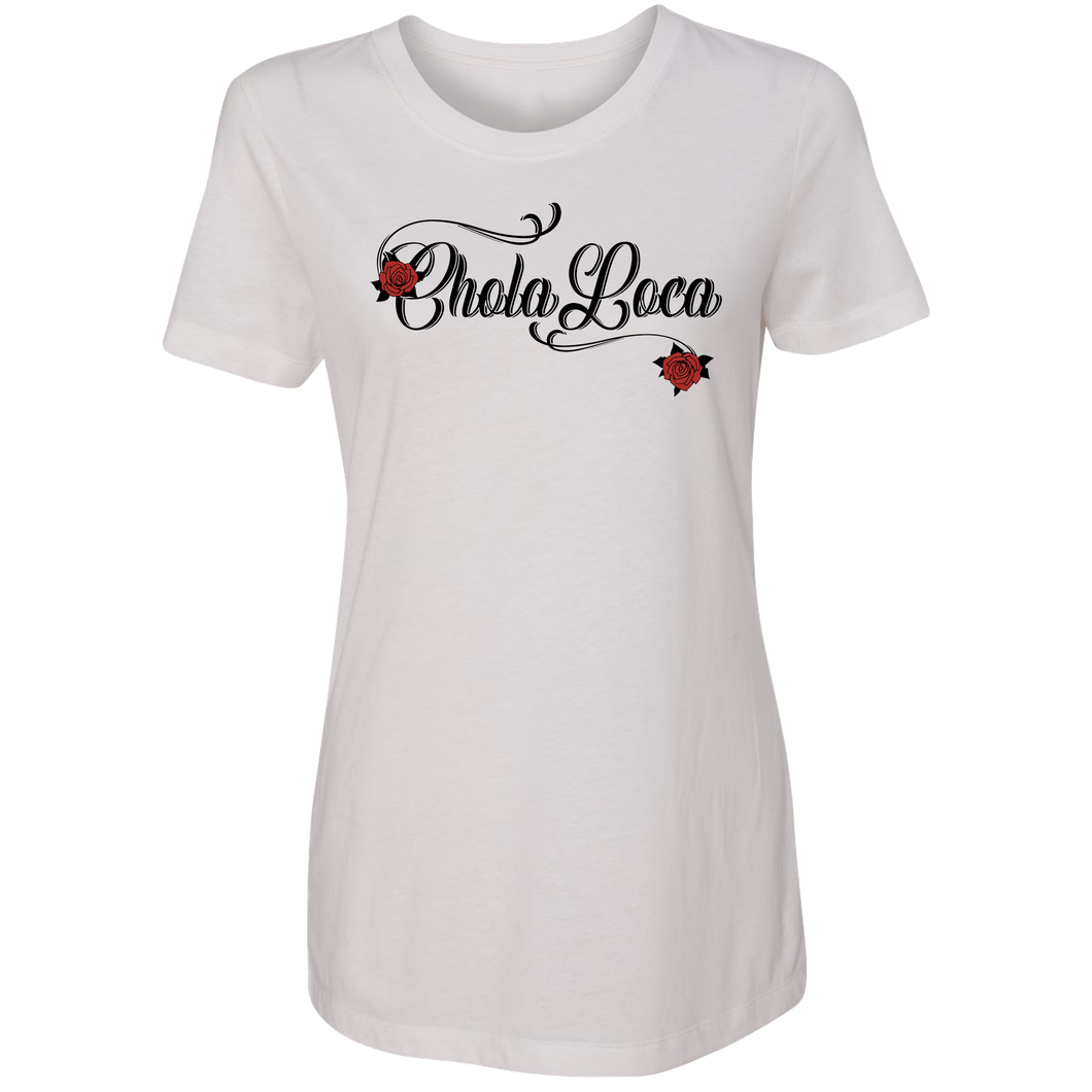 Chola Loca White Concert Tee Front