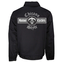 Load image into Gallery viewer, New Dickies Chicano Style Motorcycles Jacket Back