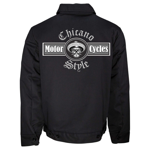 New Dickies Chicano Style Motorcycles Jacket Back