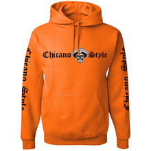 Load image into Gallery viewer, Chicano Style Motorcycles Hi-Visibilty Safety Orange Hoodie Sweatshirt