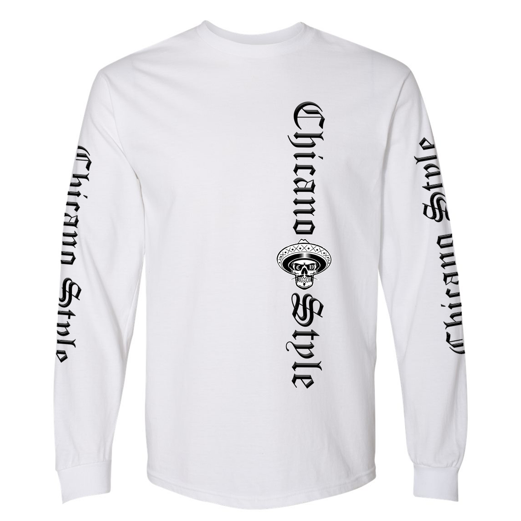 Chicano Style Classic II White Long Sleeve T-Shirt