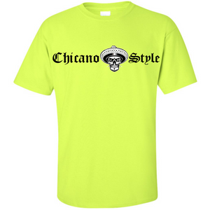 NEW Chicano Style Classic Hi-Visibility Safety Green T-Shirt