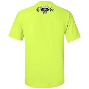 NEW Chicano Style Classic Hi-Visibility Safety Green T-Shirt back