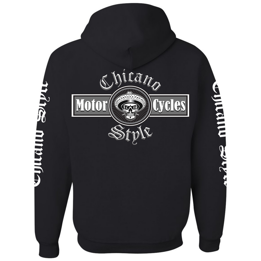 NEW Chicano Style Motorcycles Black Hoodie Sweatshirt