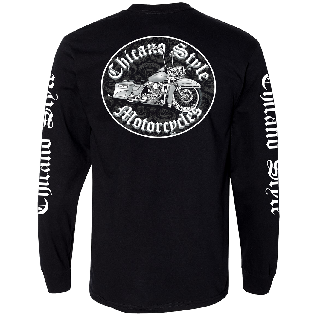 NEW Chicano Style Motorcycles Throwback Long Sleeve T-Shirt