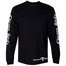 Load image into Gallery viewer, NEW Chicano Style Motorcycles Throwback Long Sleeve T-Shirt front