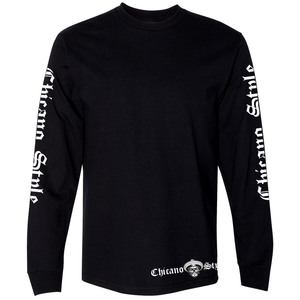 NEW Chicano Style Motorcycles Throwback Long Sleeve T-Shirt front