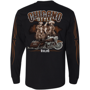 NEW Chicano Style Viclas Limited Edition Caballeros ON BACK Long Sleeve Tee