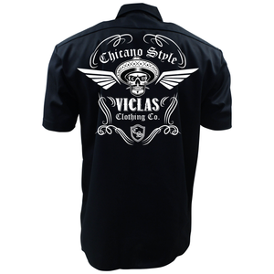 Dickies Chicano Style Viclas Mechanic's Work Shirt