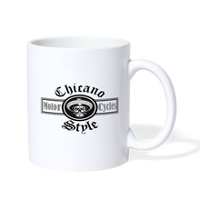 Load image into Gallery viewer, Chicano Style Motorcycles Coffee Mug - white