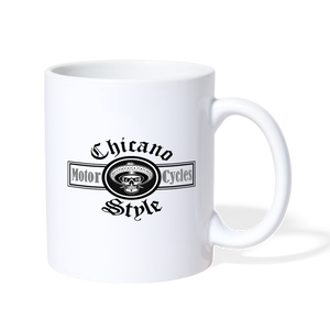 Chicano Style Motorcycles Coffee Mug - white