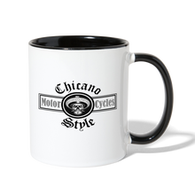 Load image into Gallery viewer, Chicano Style Motorcycles Black Contrast Coffee Mug - white/black