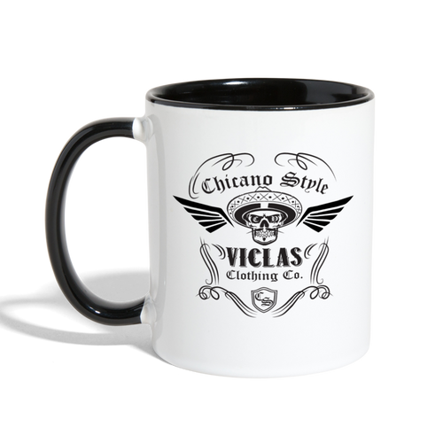 Chicano Style Viclas Black Contrast Coffee Mug - white/black