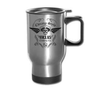 Chicano Style Viclas Steel Travel Mug - silver