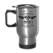Load image into Gallery viewer, Chicano Style Viclas Steel Travel Mug - silver