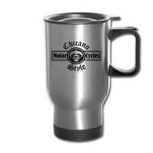 Load image into Gallery viewer, Chicano Style Motorcycles Steel Travel Mug - silver