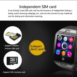 Smartwatch Q18 Smart Watch Support Sim TF Card Phone Call - Jazba World - Headphones - Earbuds - Wirless - Bluetooth Headphones