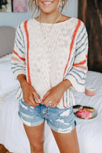 Load image into Gallery viewer, *RESTOCKED* Relaxed Striped Sweater