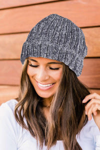 Chenille Gray Hat