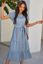 Load image into Gallery viewer, Three-Tier French Blue Dress ***LAST ONE - SMALL!